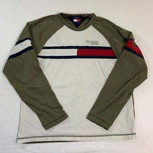 Tommy Hilfiger Jeans Flag Logo Tee Shirt LS M